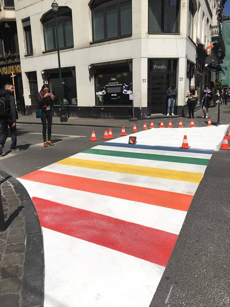 Sogi campaigns over the rainbow crossing brussels biocorpaavc Choice Image
